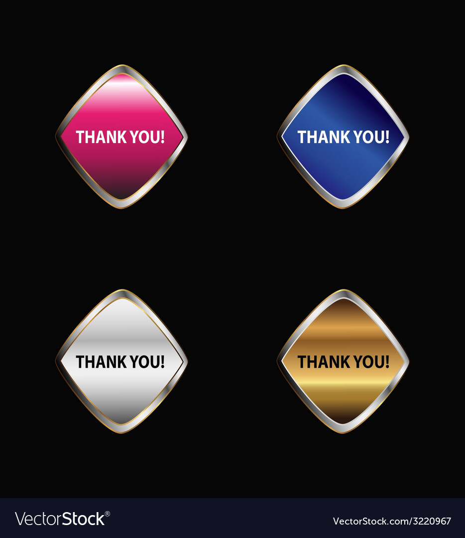 Label with the words thank you vector | Price: 1 Credit (USD $1)