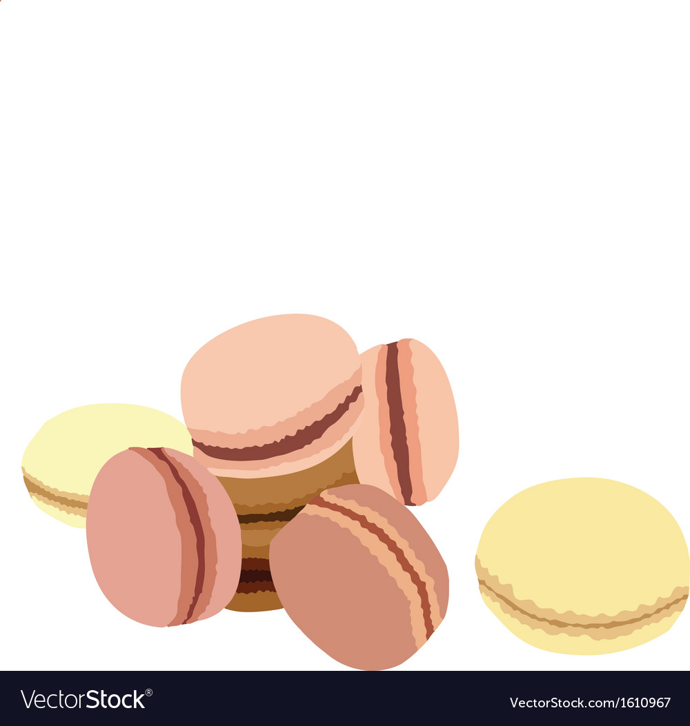 Pastel macaroons vector | Price: 1 Credit (USD $1)