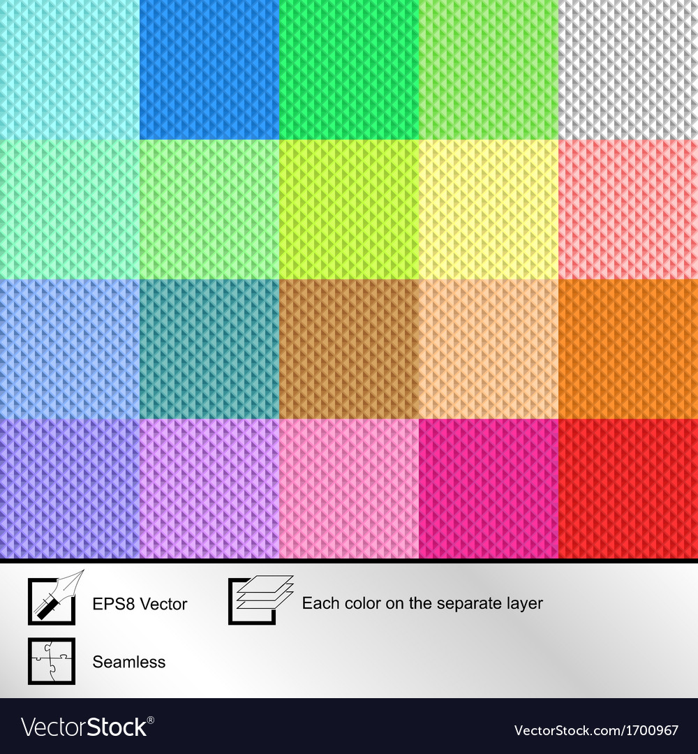 Set of twenty colorful seamless textures vector | Price: 1 Credit (USD $1)