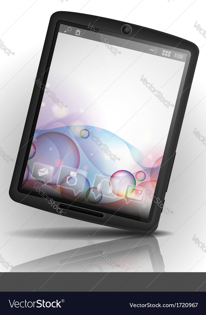 Tablet pc with bubble background vector | Price: 1 Credit (USD $1)