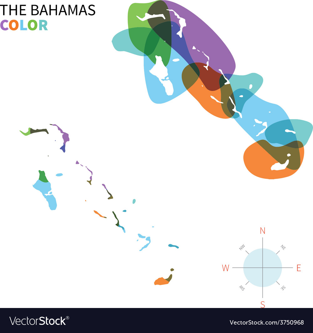 Abstract color map of bahamas vector | Price: 1 Credit (USD $1)
