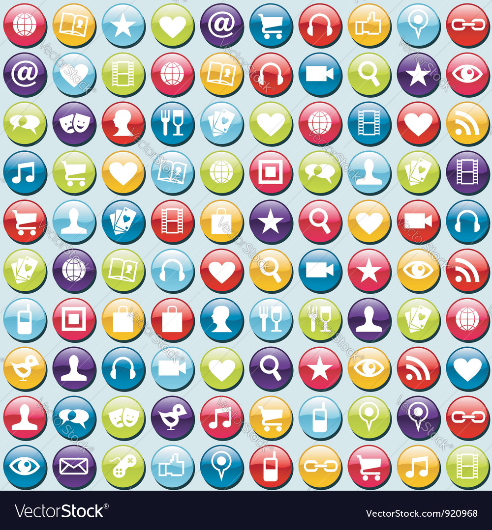 App icons pattern background vector | Price: 1 Credit (USD $1)