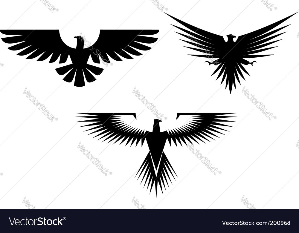 Eagle tattoos vector | Price: 1 Credit (USD $1)