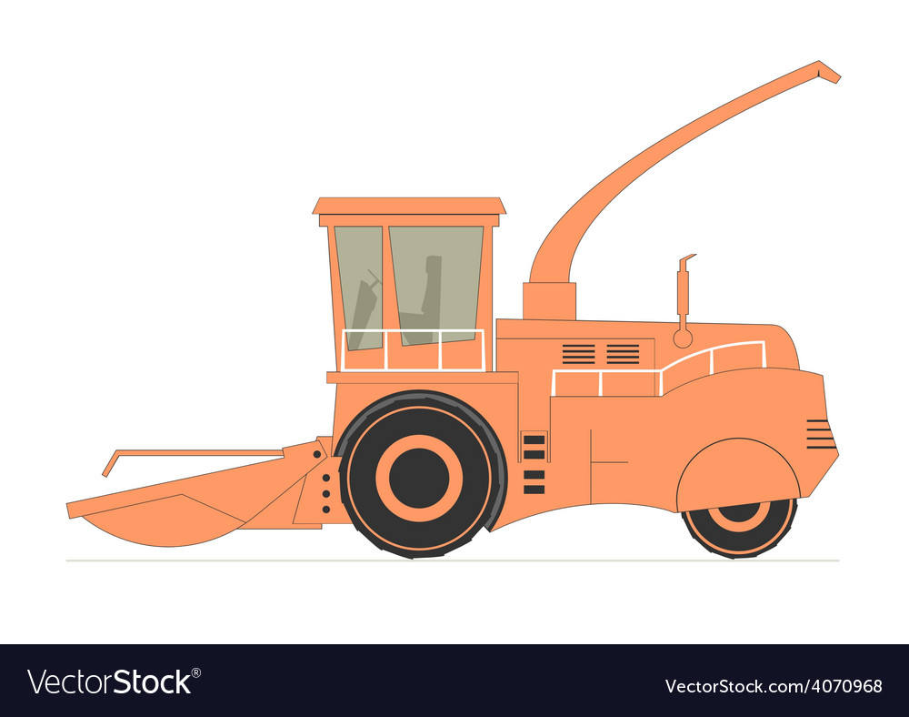 Forage harvester vector | Price: 1 Credit (USD $1)