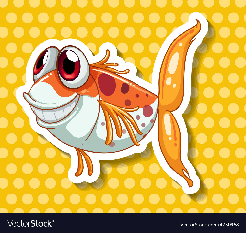 Funny fish vector | Price: 1 Credit (USD $1)