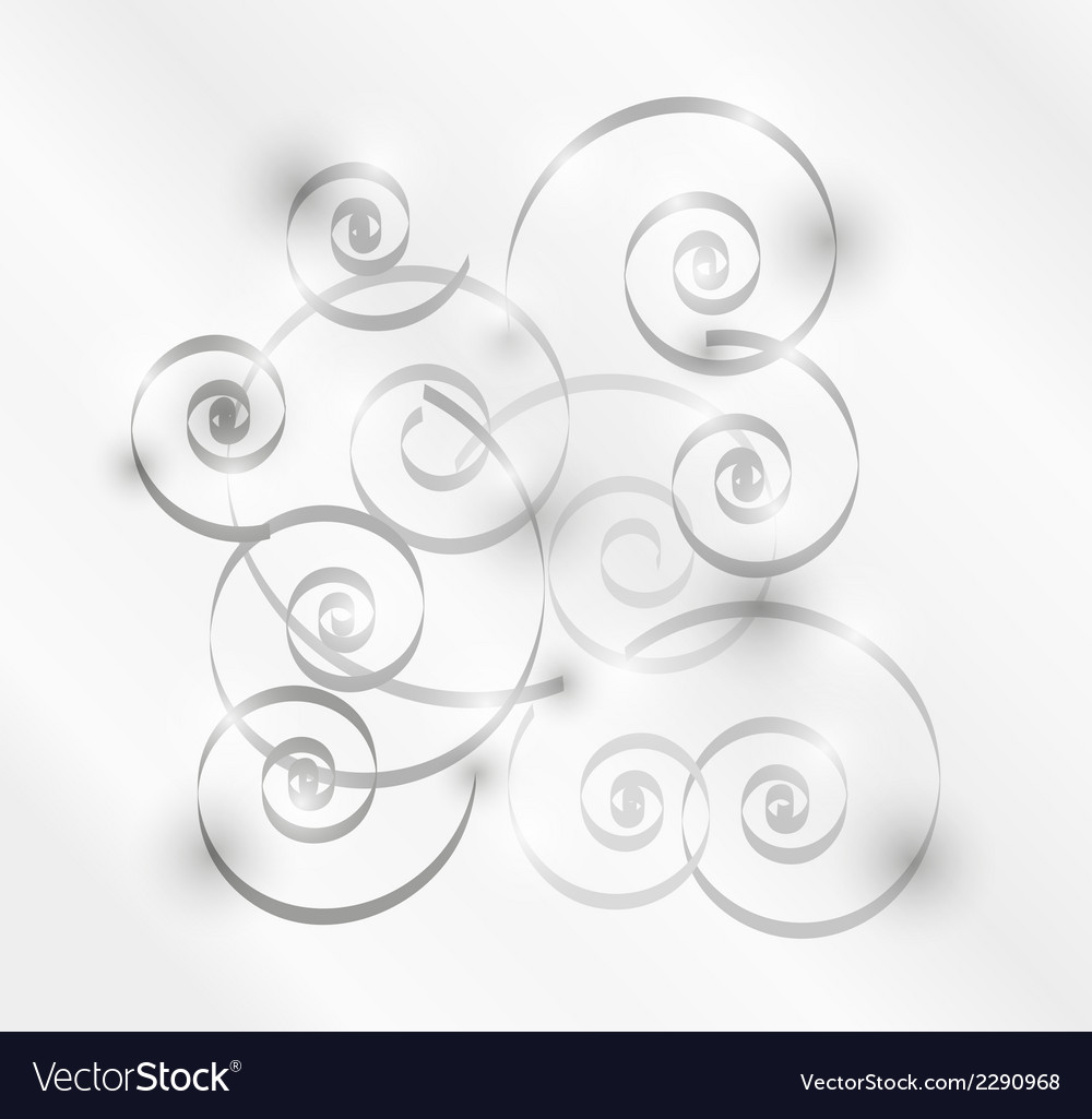 Gray spirals vector | Price: 1 Credit (USD $1)
