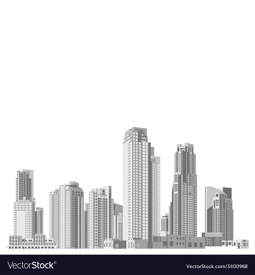 Set of skyscrapers with diverse architecture vector | Price: 1 Credit (USD $1)