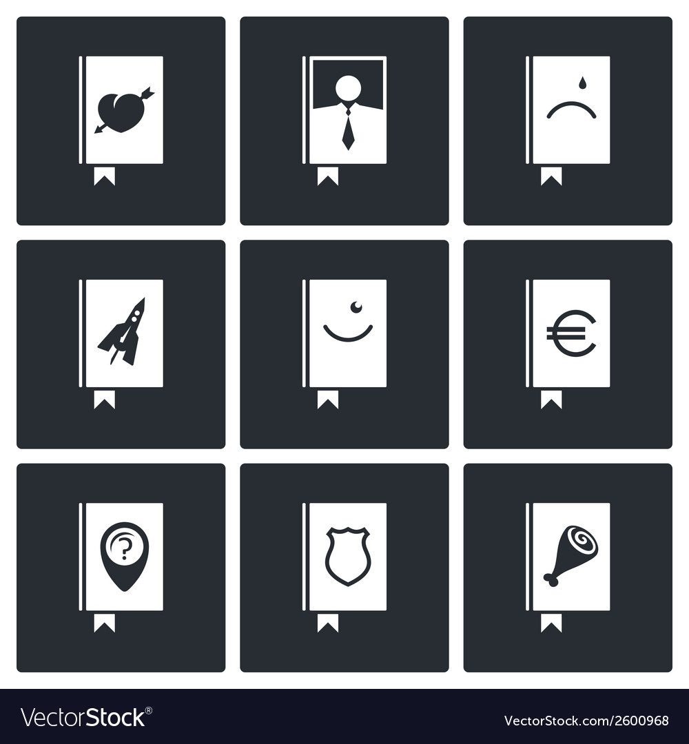 Specialized face book icon collection vector | Price: 1 Credit (USD $1)