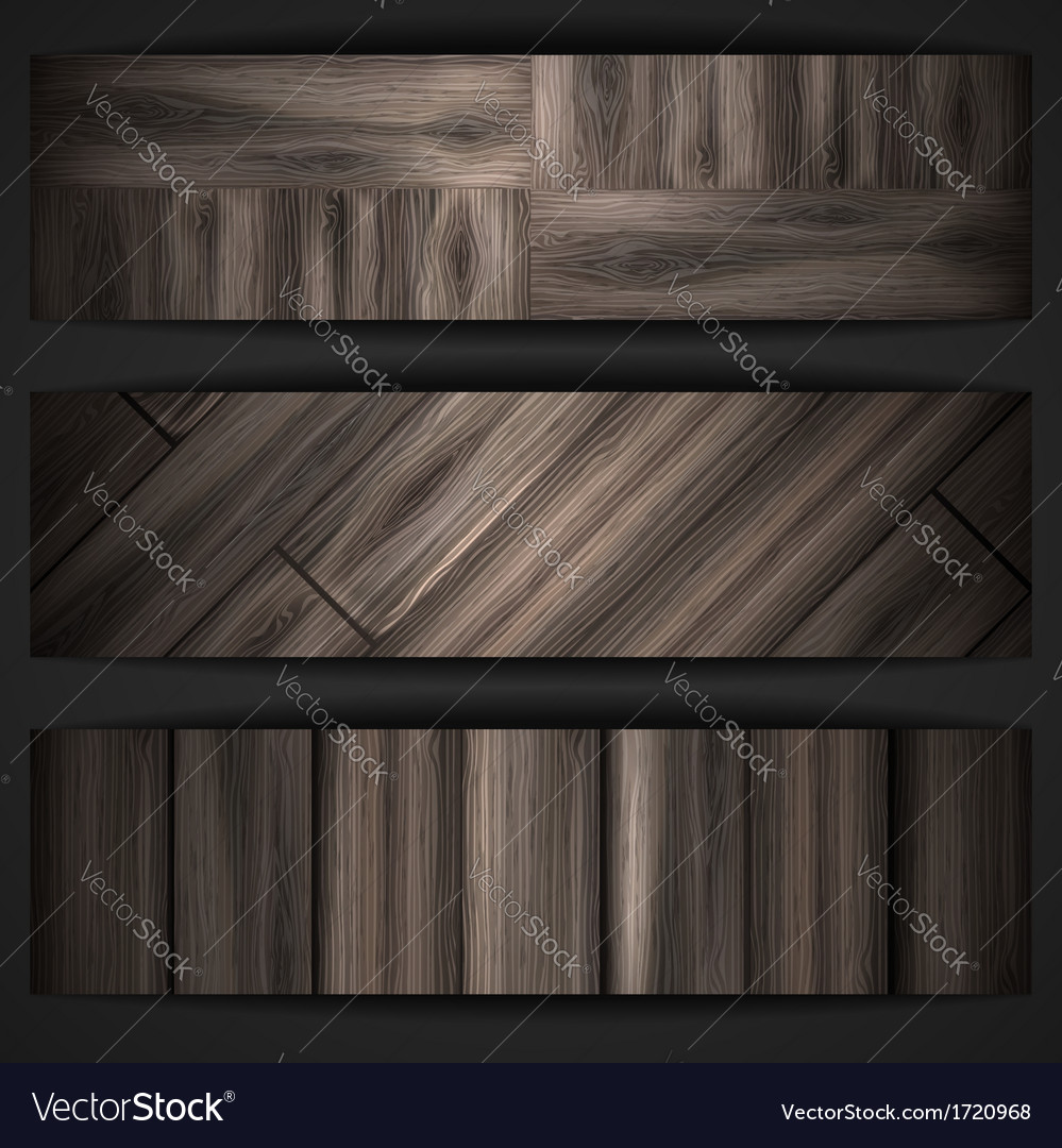 Wooden texture banner vector | Price: 1 Credit (USD $1)