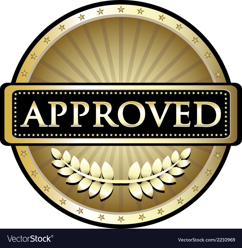 Approved gold label vector | Price: 1 Credit (USD $1)
