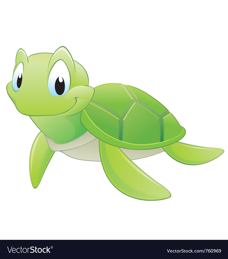 Cartoon turtle vector | Price: 3 Credit (USD $3)