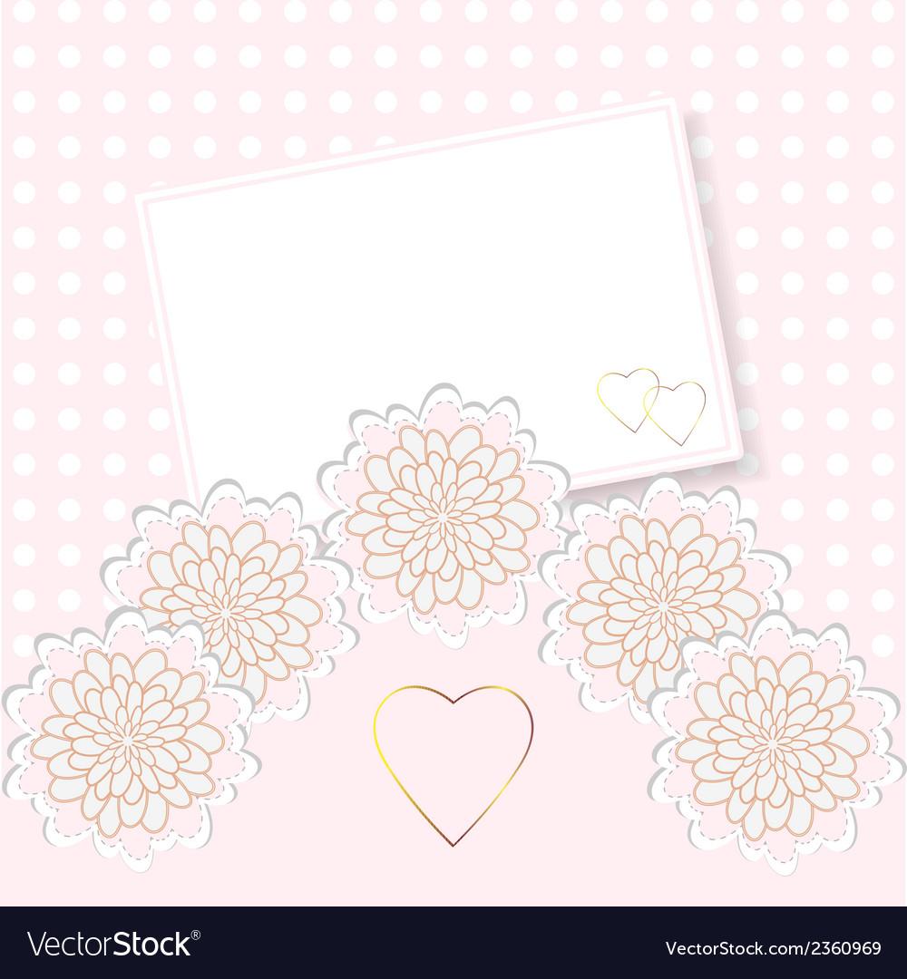 Delicate invitation card vector | Price: 1 Credit (USD $1)