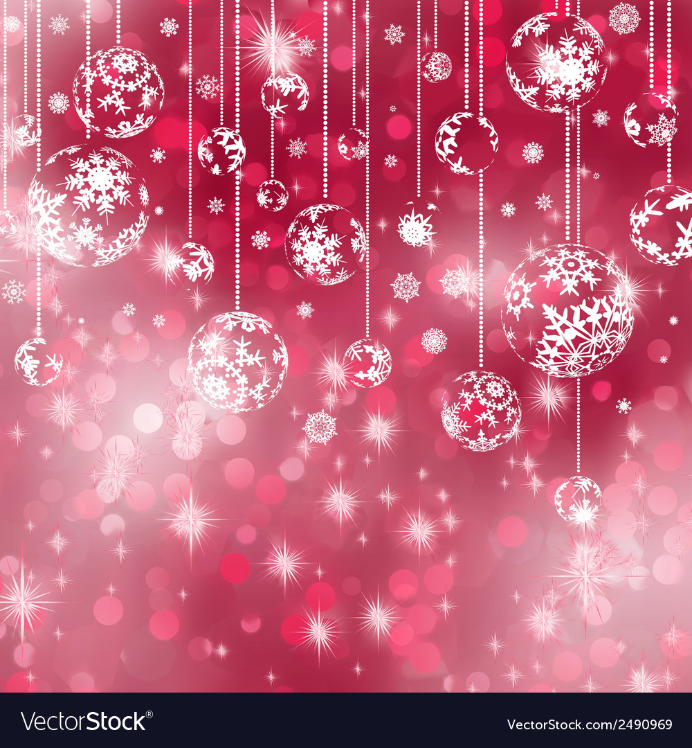 Elegant red christmas background eps 8 vector | Price: 1 Credit (USD $1)