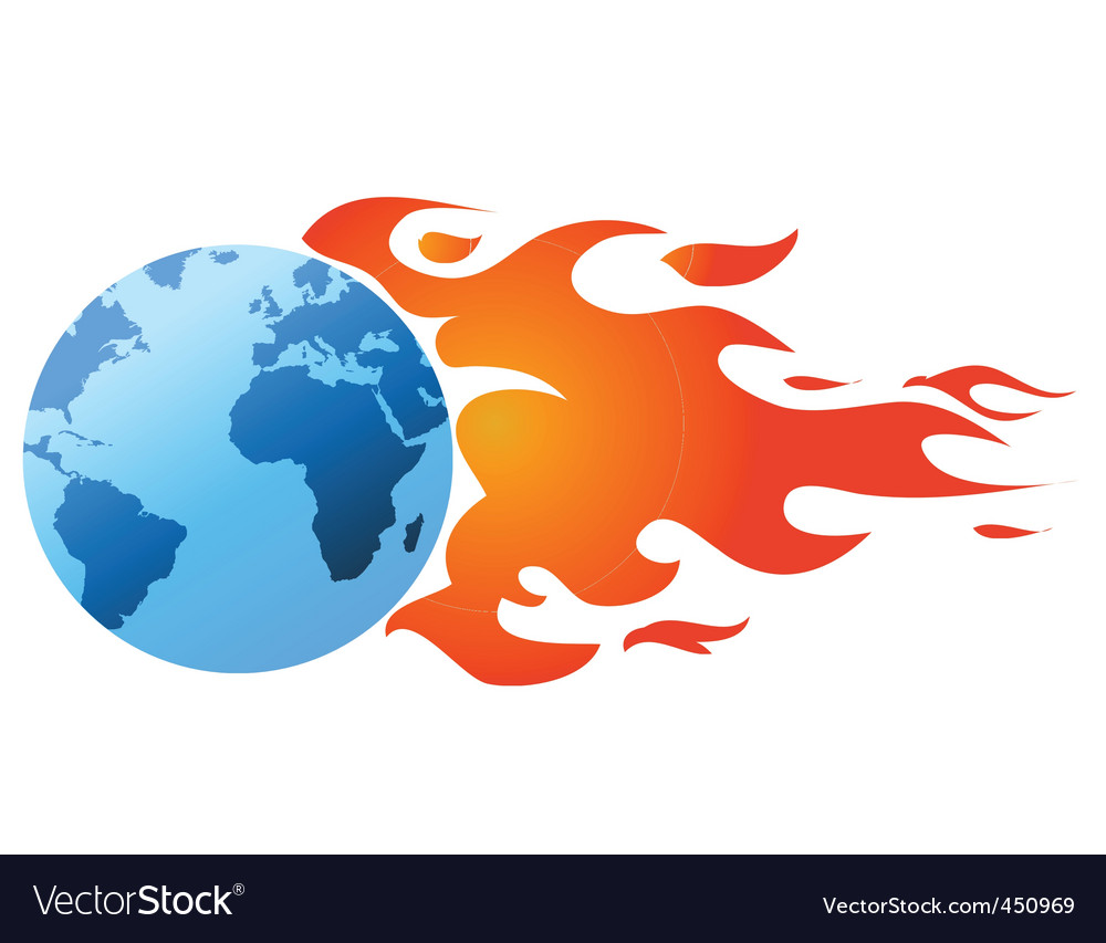 Flaming world vector | Price: 1 Credit (USD $1)