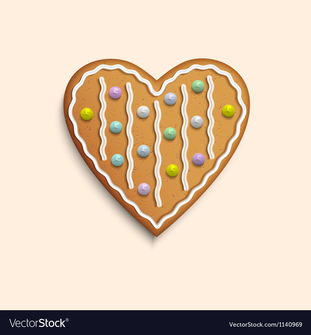 Heart shaped cookie vector | Price: 1 Credit (USD $1)