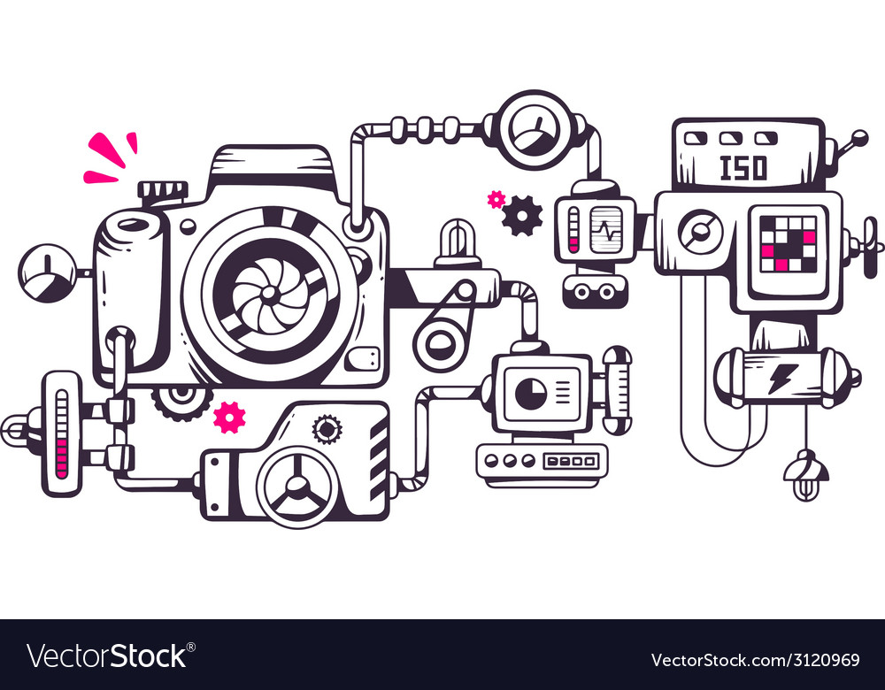 Industrial of the mechanism of photo camera vector | Price: 1 Credit (USD $1)