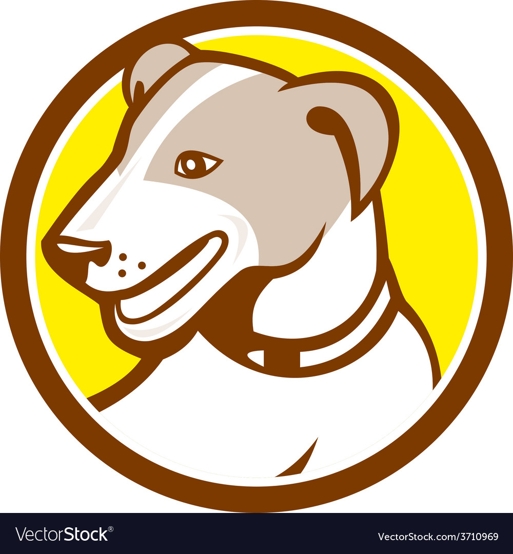 Jack russell terrier head circle cartoon vector | Price: 1 Credit (USD $1)