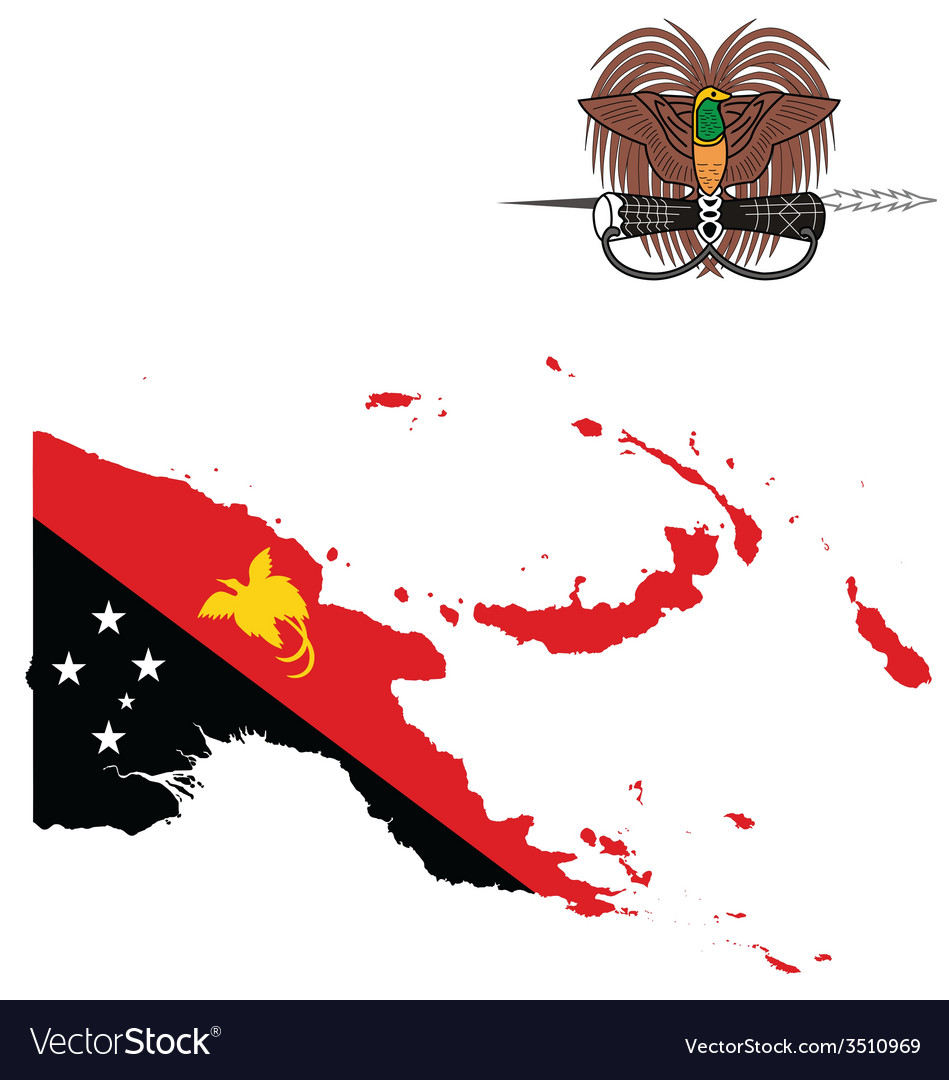 Papua new guinea flag vector | Price: 1 Credit (USD $1)