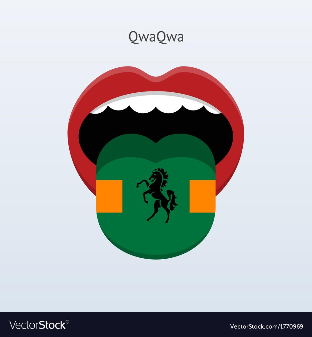 Qwaqwa language abstract human tongue vector | Price: 1 Credit (USD $1)