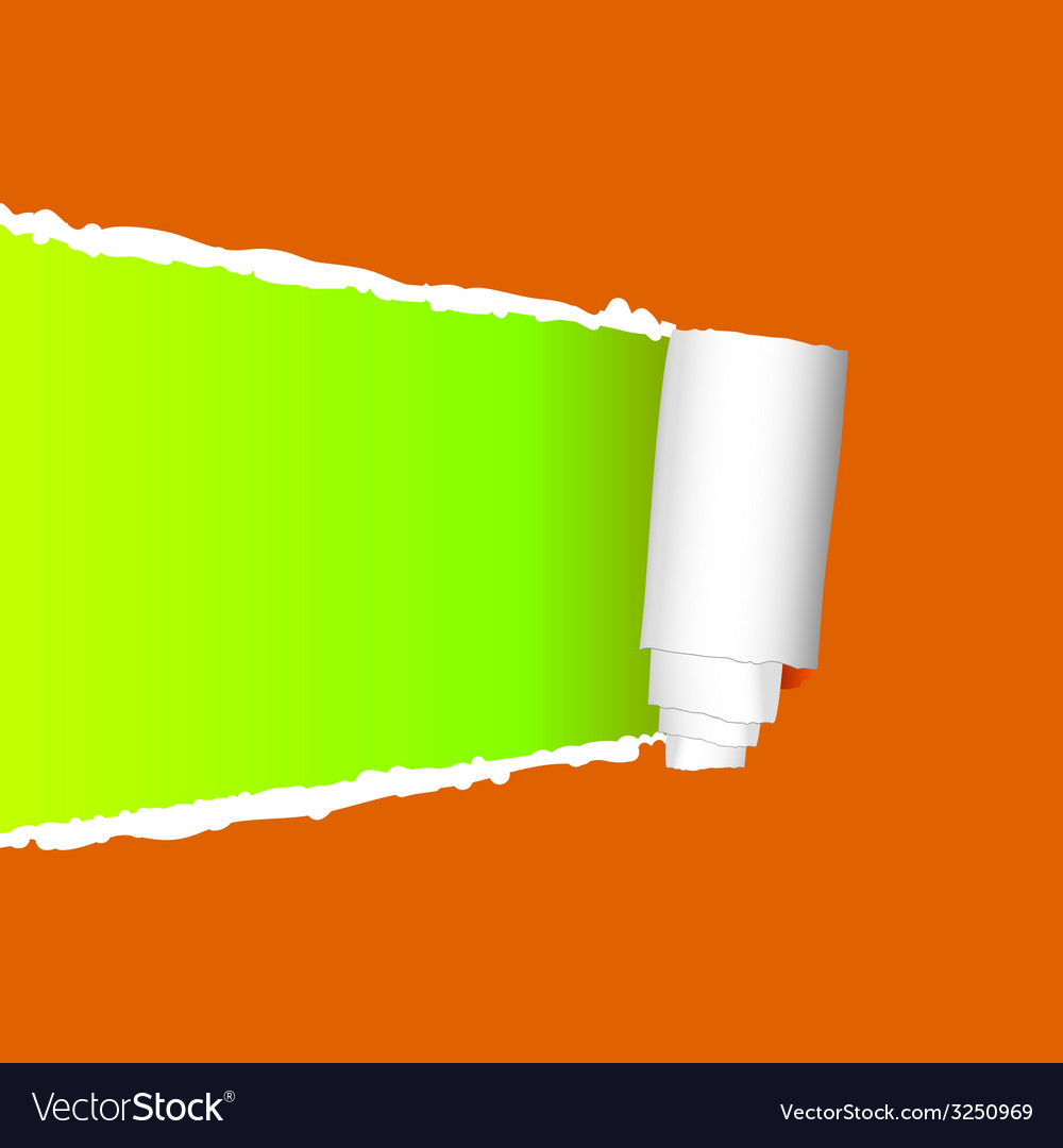 Tearing paper on orange vector | Price: 1 Credit (USD $1)