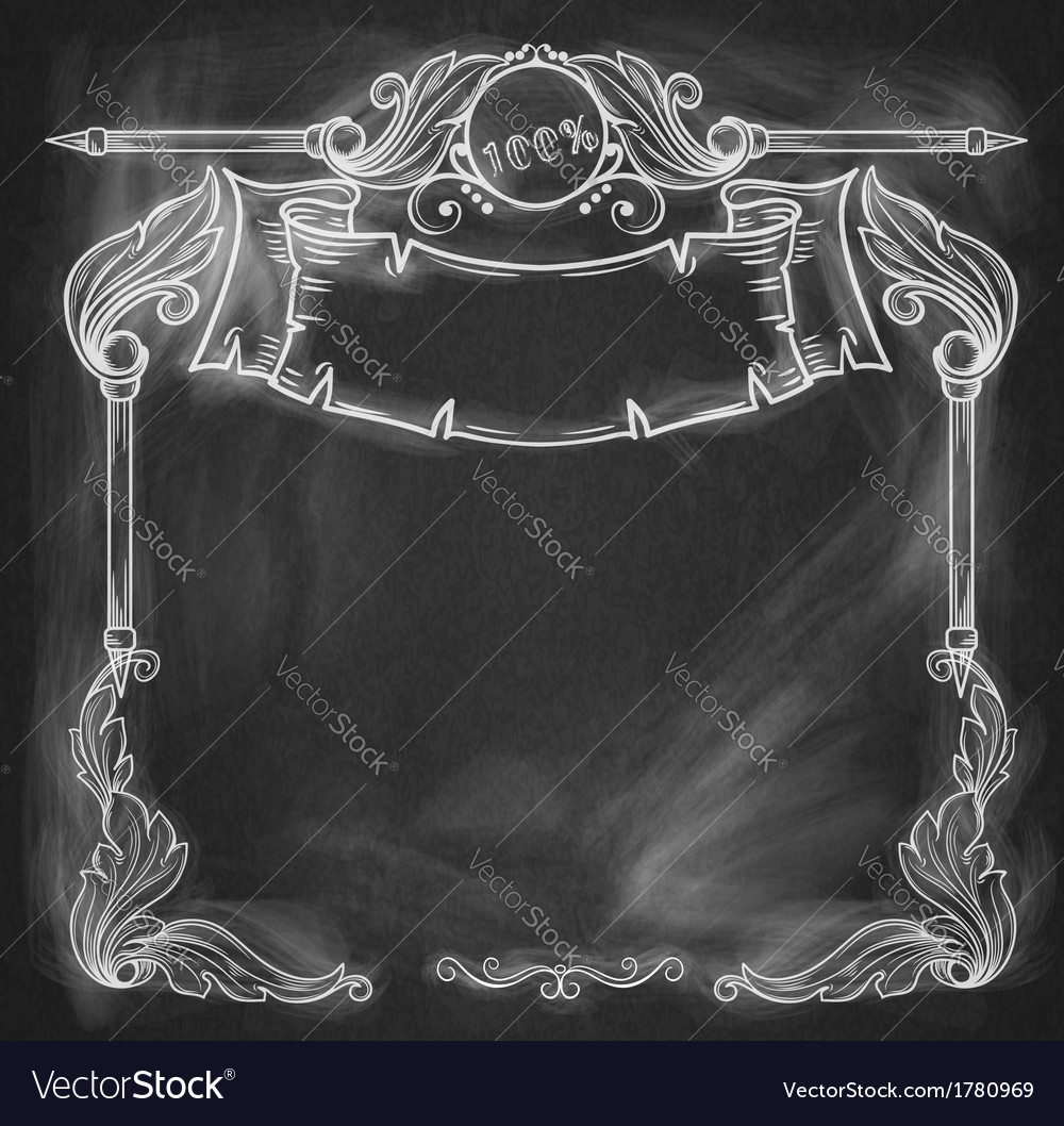 Vintage bannerbackground chalkboard vector | Price: 1 Credit (USD $1)