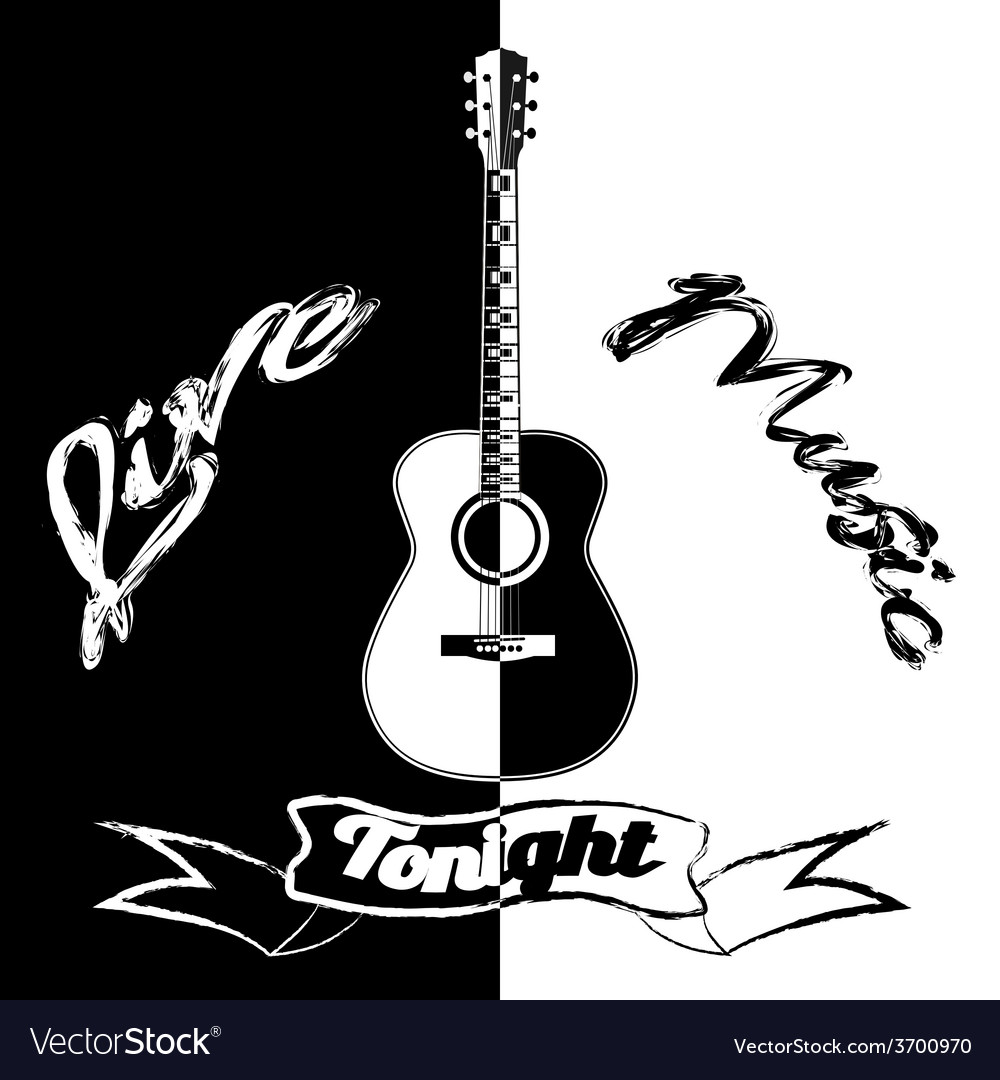 Black and white acoustic vector | Price: 1 Credit (USD $1)