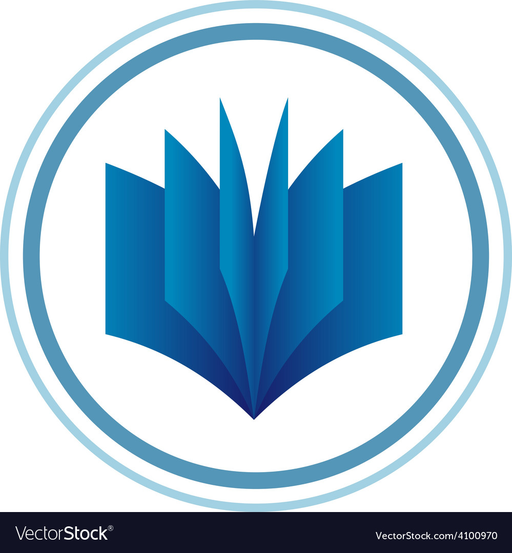 Book logo template blue gradient style vector | Price: 1 Credit (USD $1)