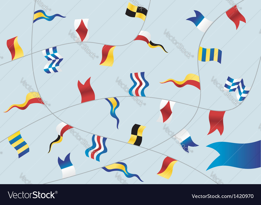 Set of nautical flags vector | Price: 1 Credit (USD $1)
