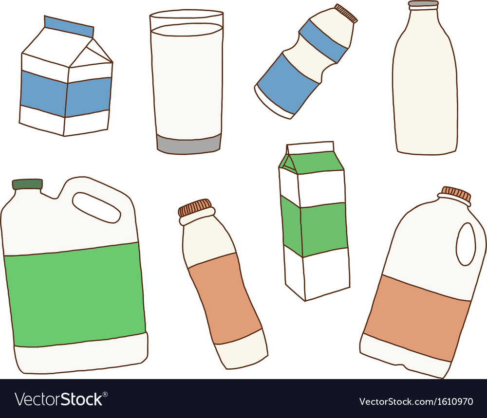 Various packages for dairy products vector | Price: 1 Credit (USD $1)