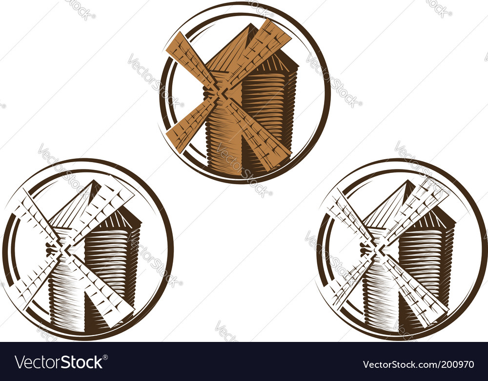 Windmill symbols vector | Price: 1 Credit (USD $1)