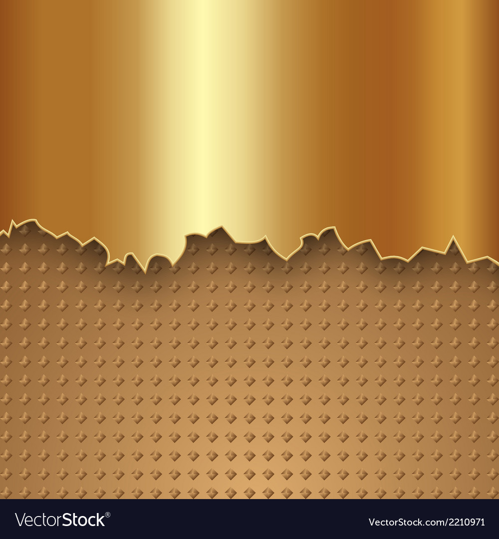 Abstract gold metal background vector | Price: 1 Credit (USD $1)