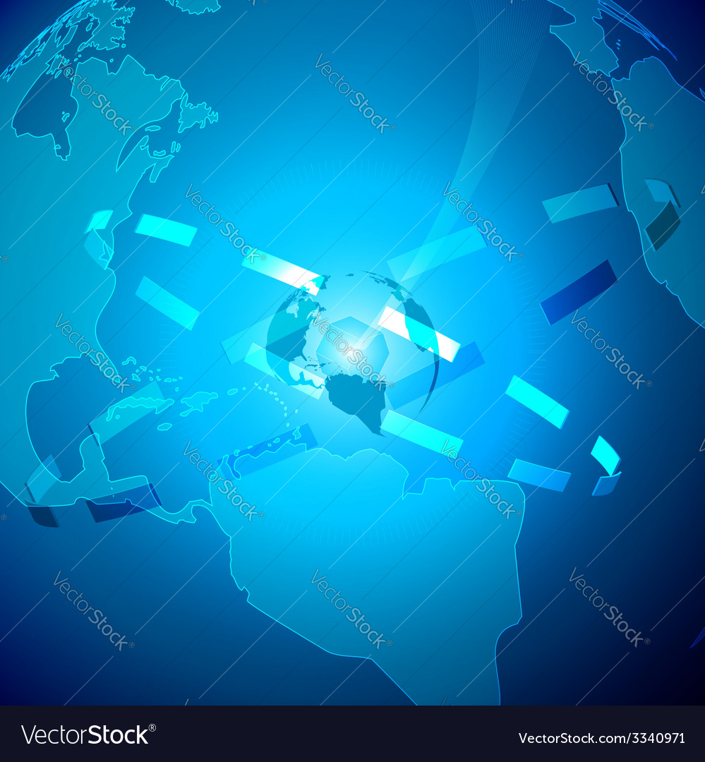 Abstract technology background with world vector | Price: 1 Credit (USD $1)