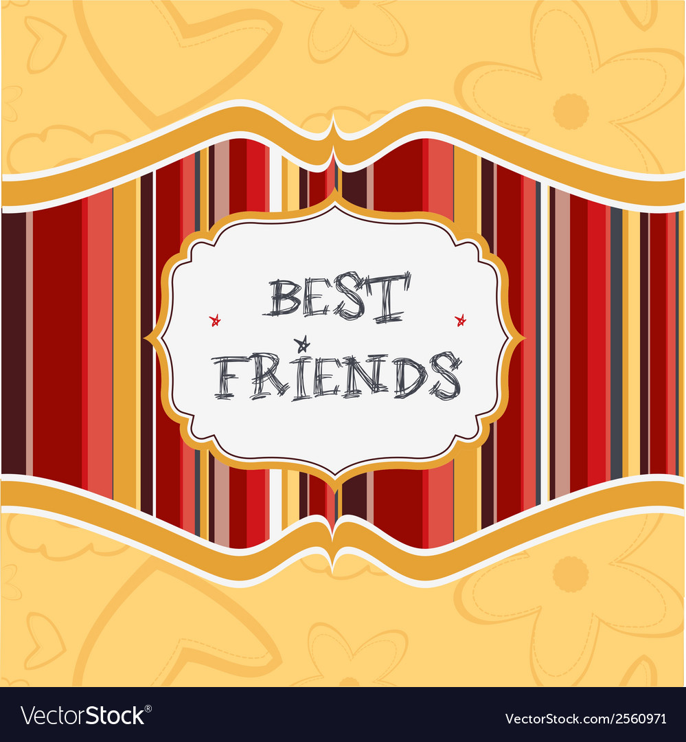 Best friends card vector | Price: 1 Credit (USD $1)