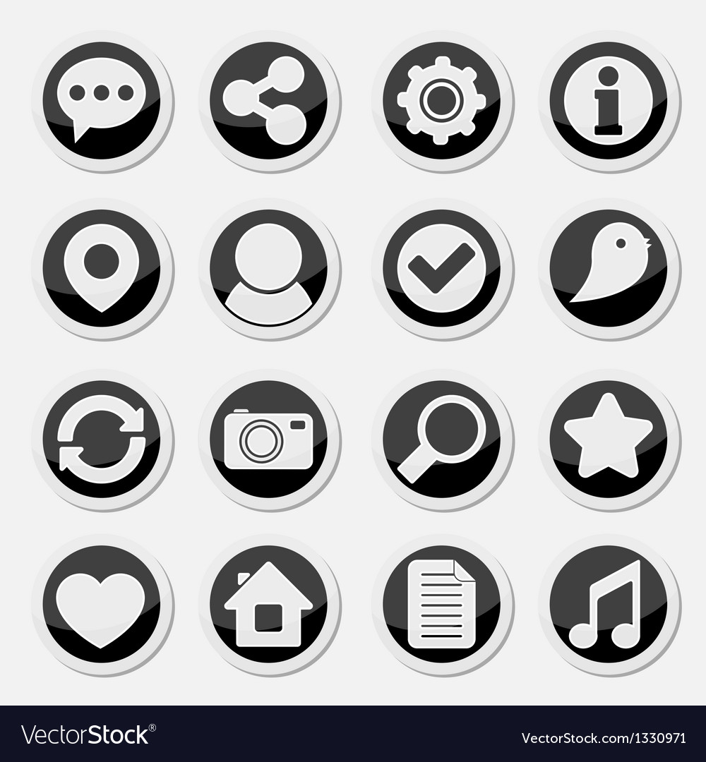 Media social round icons vector | Price: 1 Credit (USD $1)