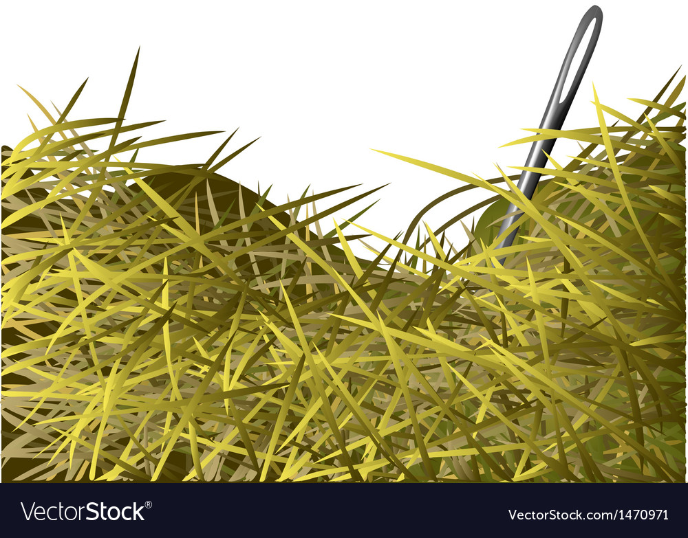 Needle in a haystack vector | Price: 1 Credit (USD $1)