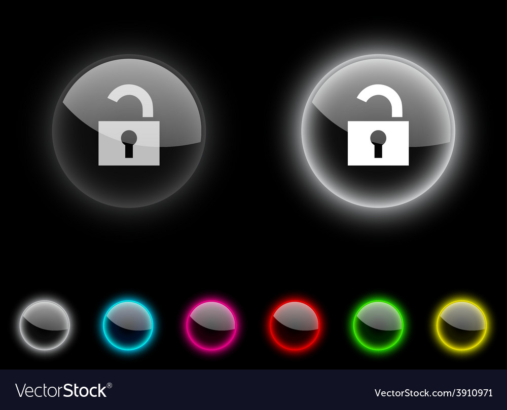 Padlock button vector | Price: 1 Credit (USD $1)