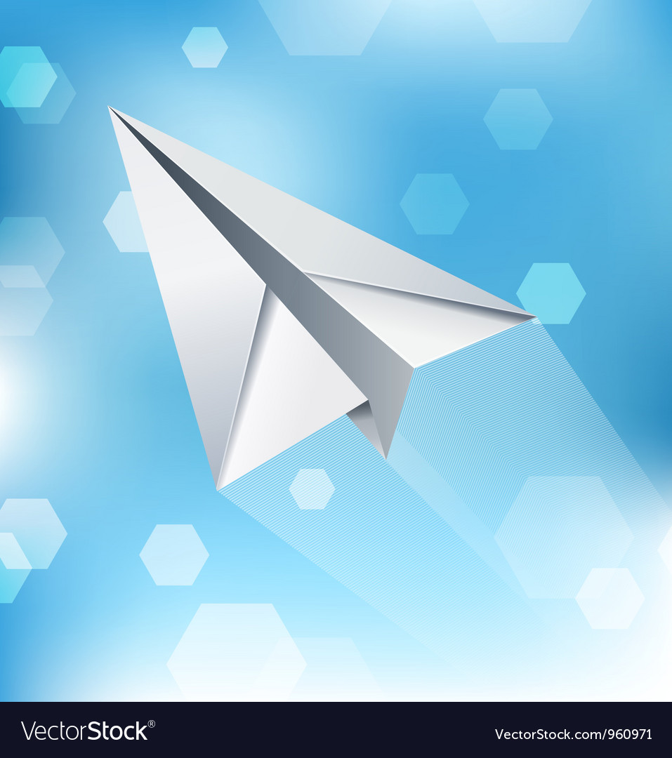 Paper plane abstract background vector | Price: 1 Credit (USD $1)