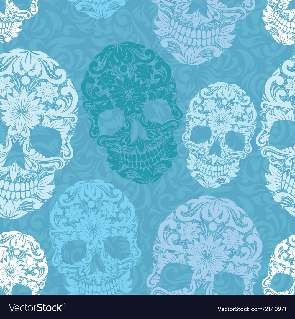 Skull pattern classic vector | Price: 1 Credit (USD $1)