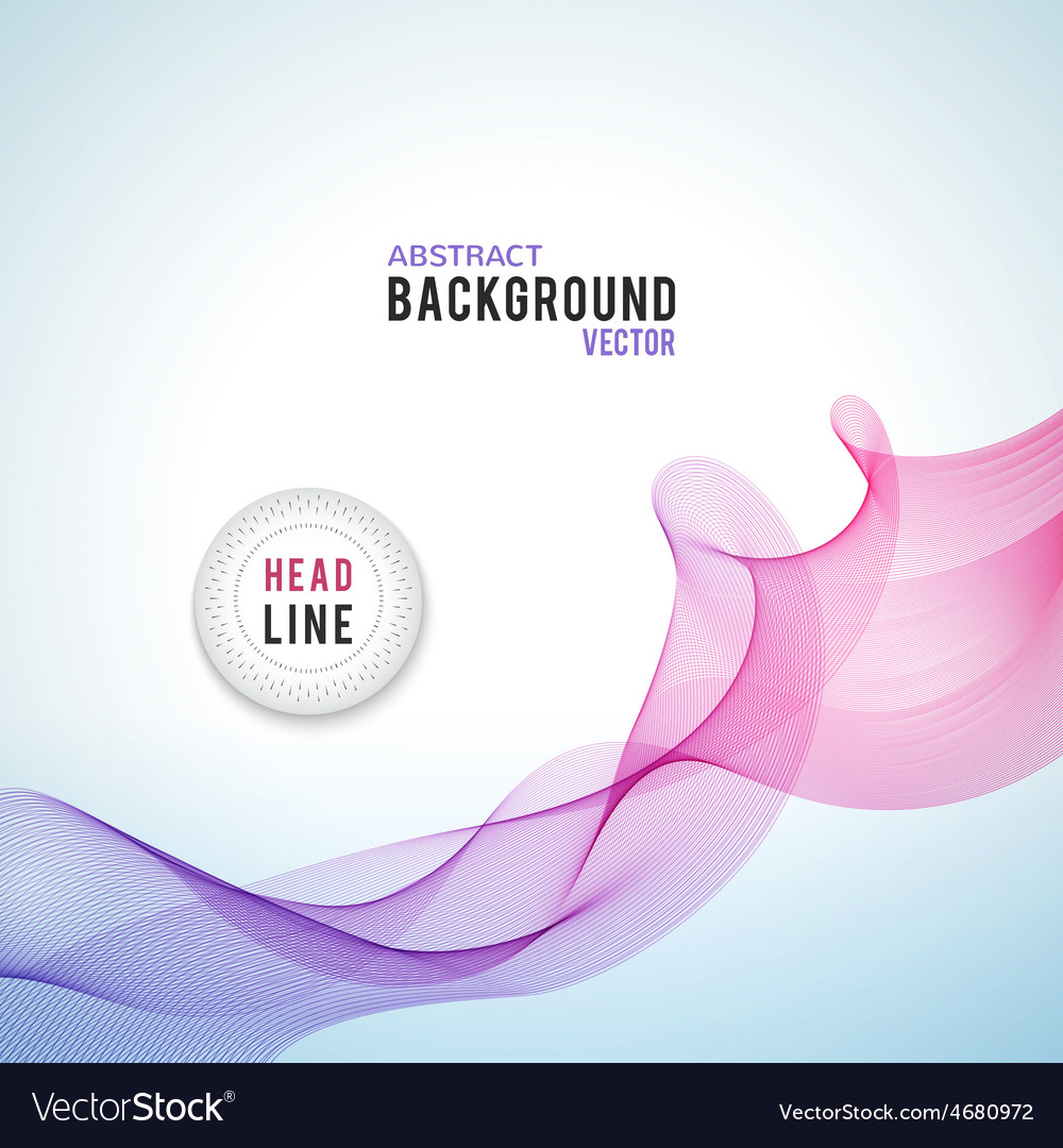 Abstract purple wave isolated on white background vector