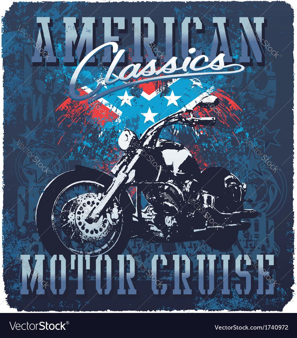 American classic motor cruise vector | Price: 5 Credit (USD $5)