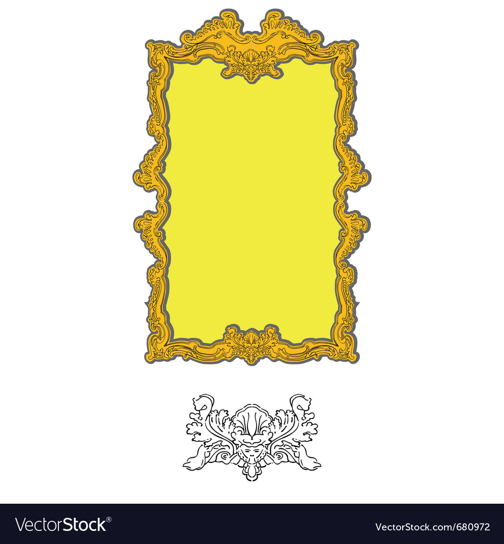 Authentic rococo ornament vector | Price: 1 Credit (USD $1)