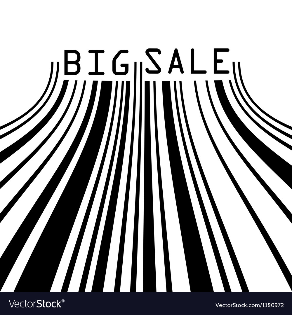 Big sale bar codes all data is fictional eps 8 vector | Price: 1 Credit (USD $1)