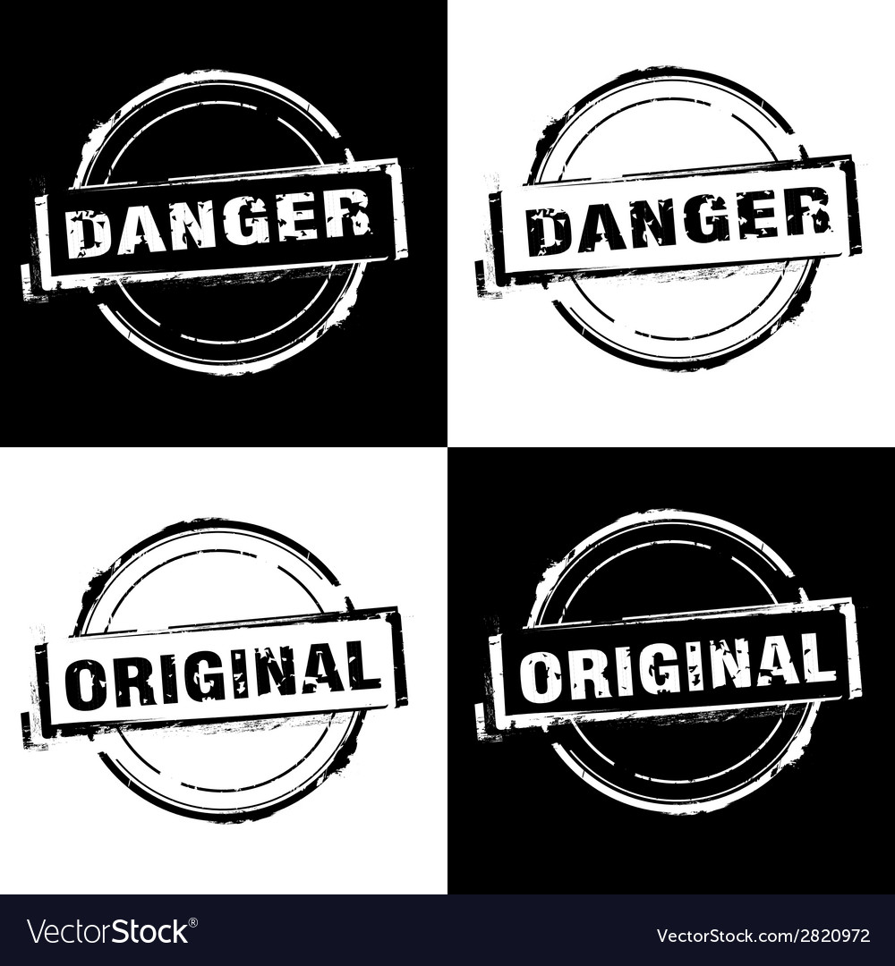 Danger original free rubber stamp vector | Price: 1 Credit (USD $1)