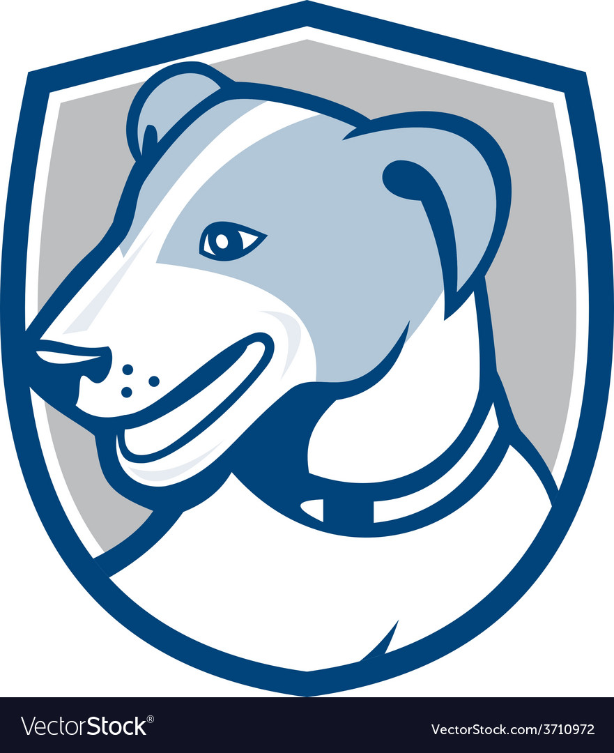 Jack russell terrier head shield cartoon vector | Price: 1 Credit (USD $1)