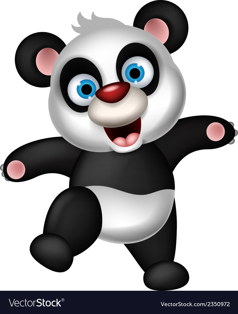 Panda cartoon dancing vector | Price: 1 Credit (USD $1)