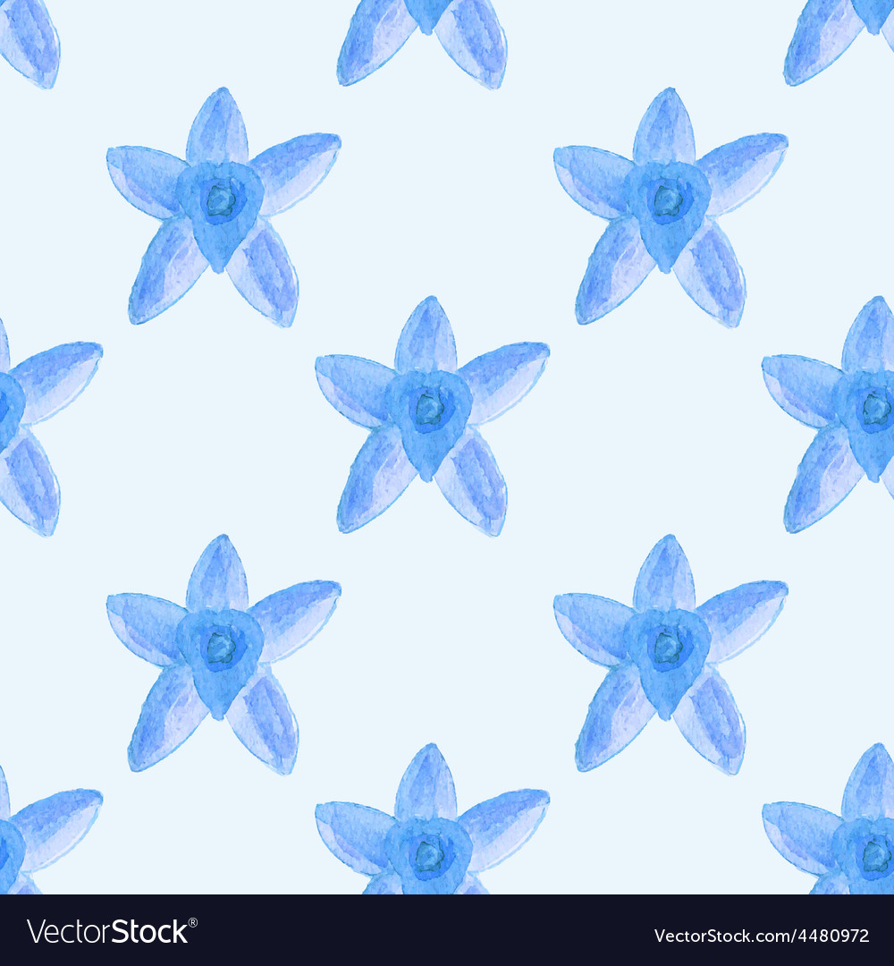 Seamless watercolor pattern with tine flower on vector | Price: 1 Credit (USD $1)