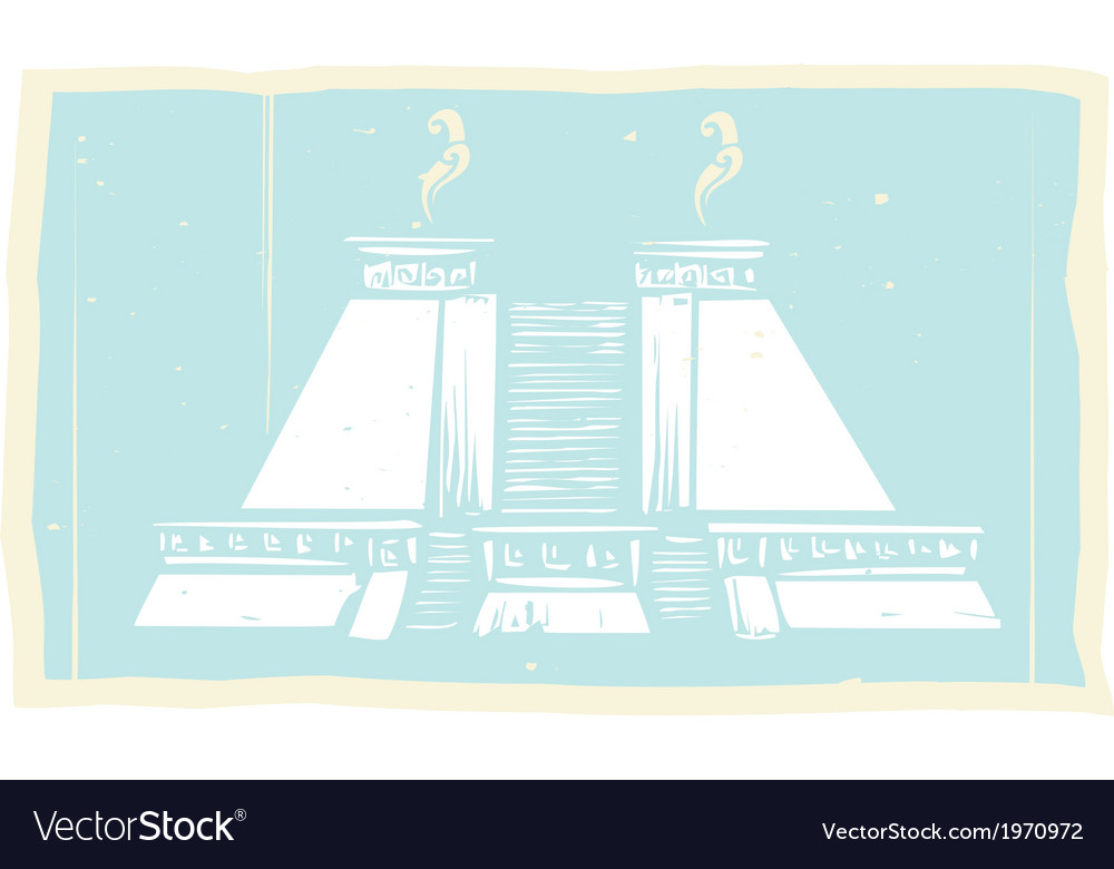 Smoking mayan pyramid codex vector | Price: 1 Credit (USD $1)