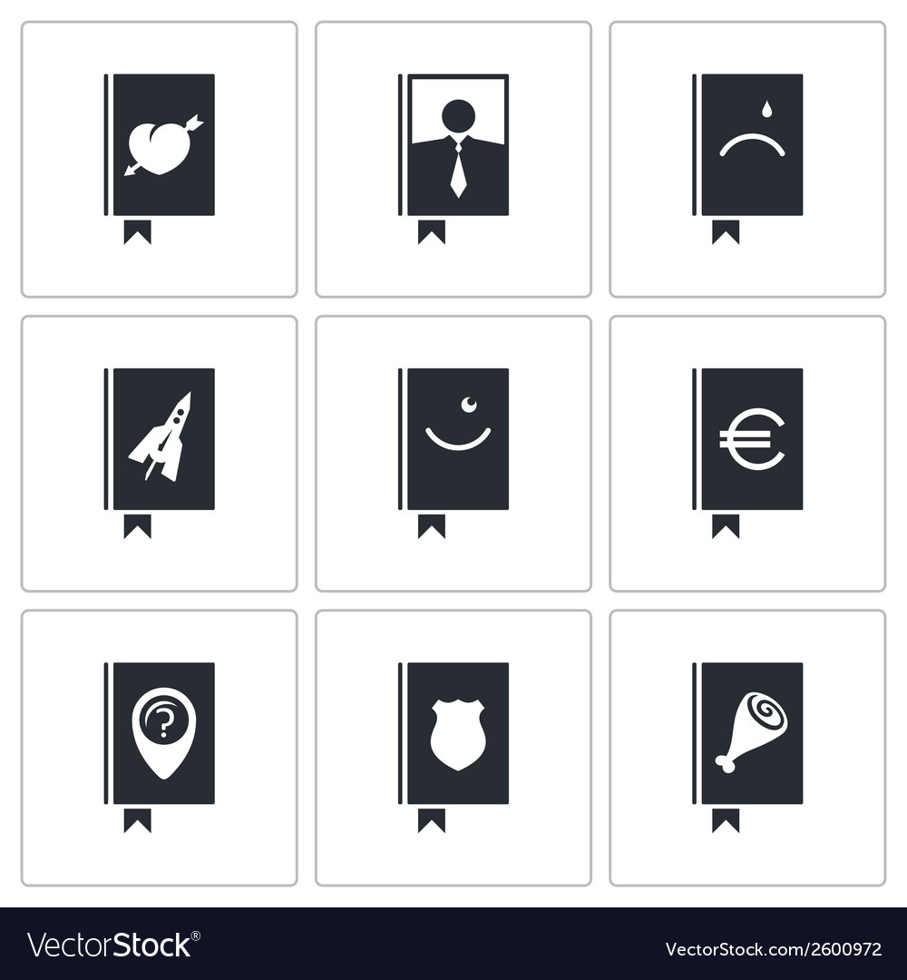 Specialized face book icon set vector | Price: 1 Credit (USD $1)