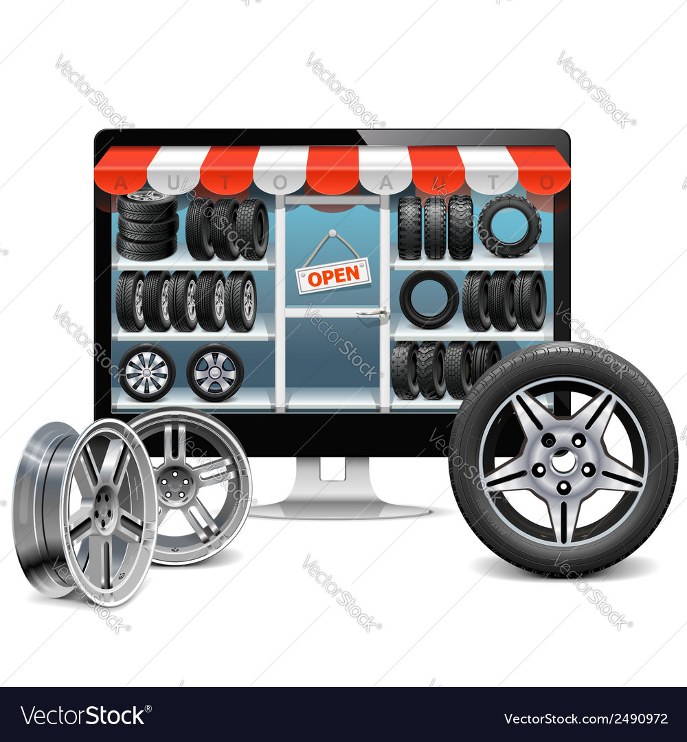 Tire shop concept vector | Price: 1 Credit (USD $1)