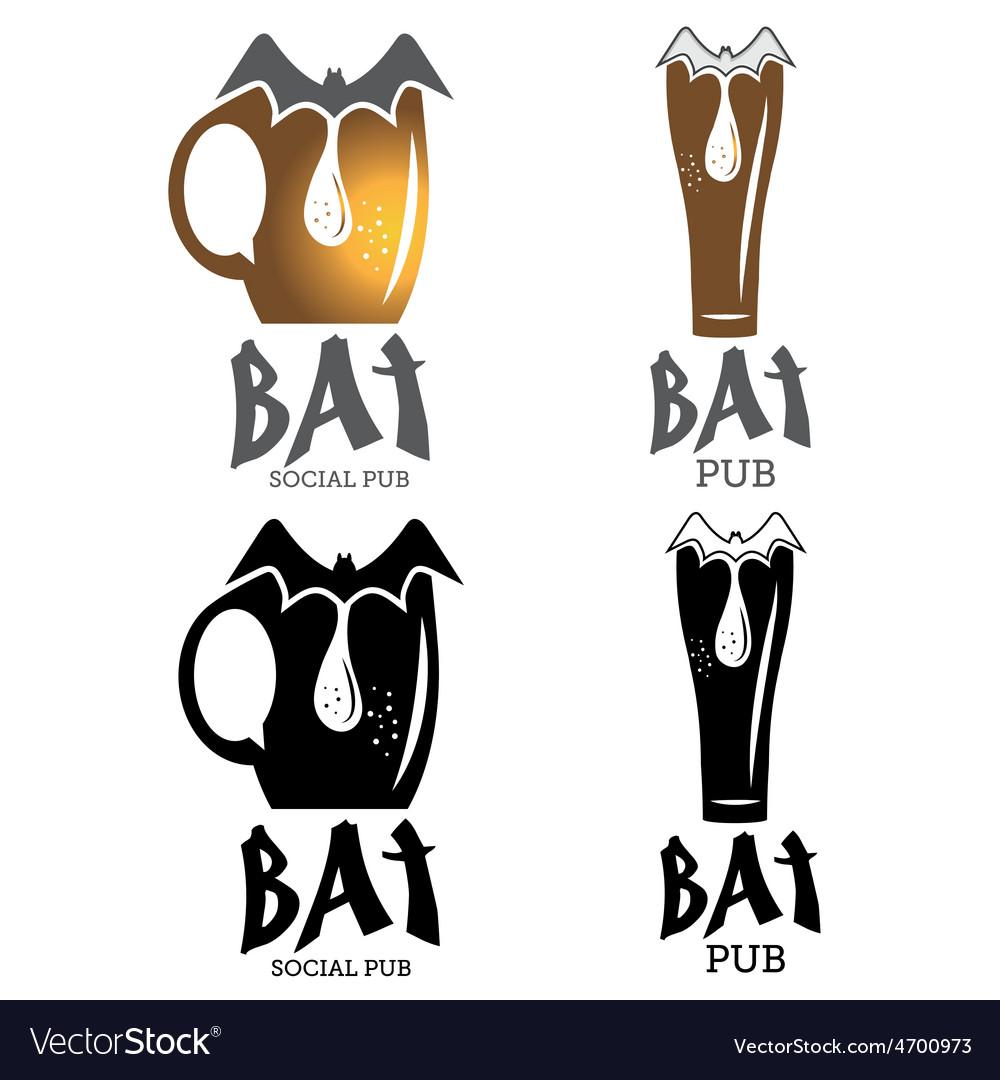 Bat pub vector | Price: 1 Credit (USD $1)
